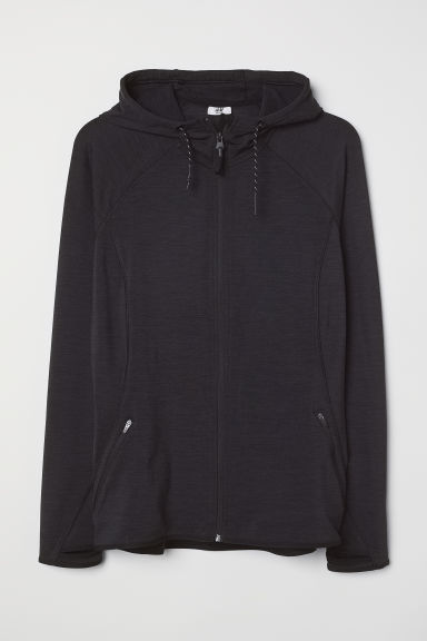 H&M+ Fleece outdoor jacket - Black marl - Ladies | H&M