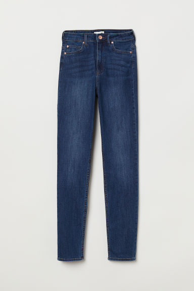 Skinny High Jeans - Dark blue - Ladies | H&M