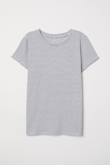T-shirt - Natural white/Striped - Ladies | H&M
