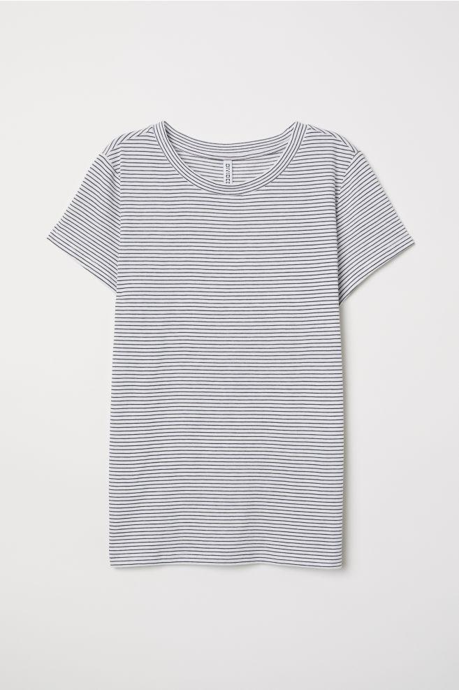 T-paita - Luonnonvalkoinen Raidallinen - NAISET  cb2e5b7aa2