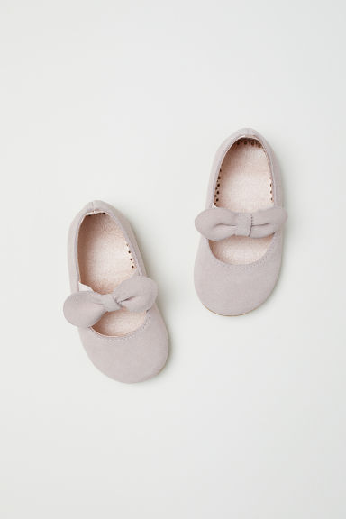 Suede ballet pumps - Powder pink - Kids | H&M GB