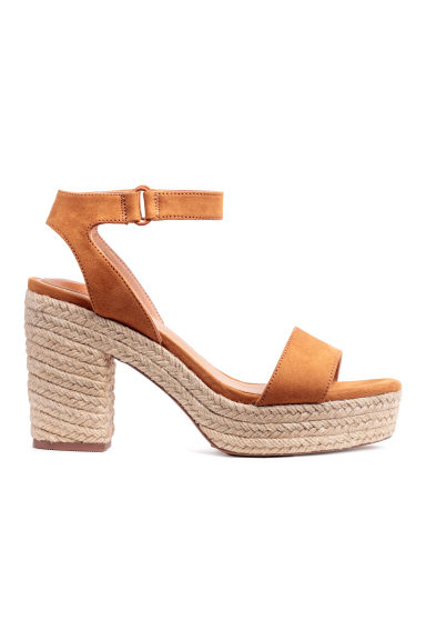 Platform sandals - Camel - Ladies | H&M