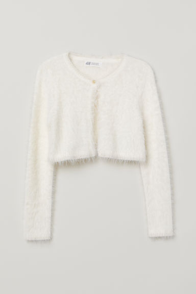 Fluffy bolero - Natural white -  | H&M