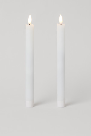 Candele lunghe a LED, 2 pz