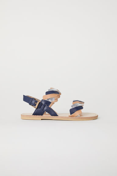 Leather sandals - Dark blue - Kids | H&M CN
