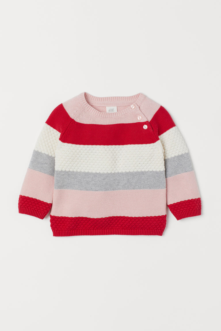 Knit Cotton Sweater - Red - Kids | H&M US