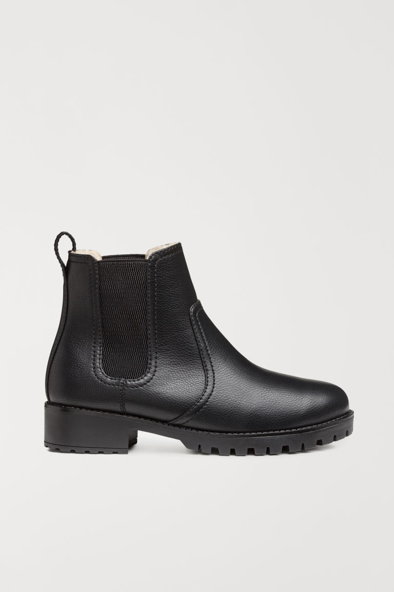 Warm-lined Chelsea boots - Black - Ladies | H&M CN