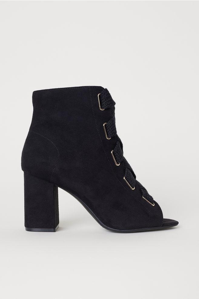 8b71e52b97c3 Sandále so šnurovaním - čierna - ŽENY