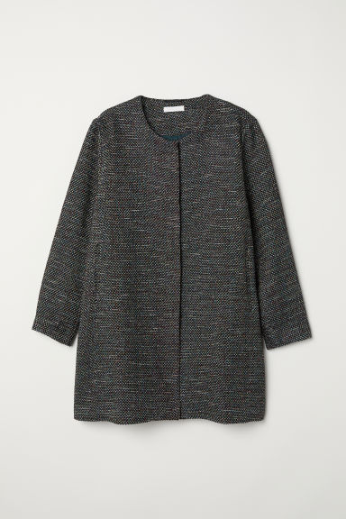 H&M+ Textured coat - Black - Ladies | H&M