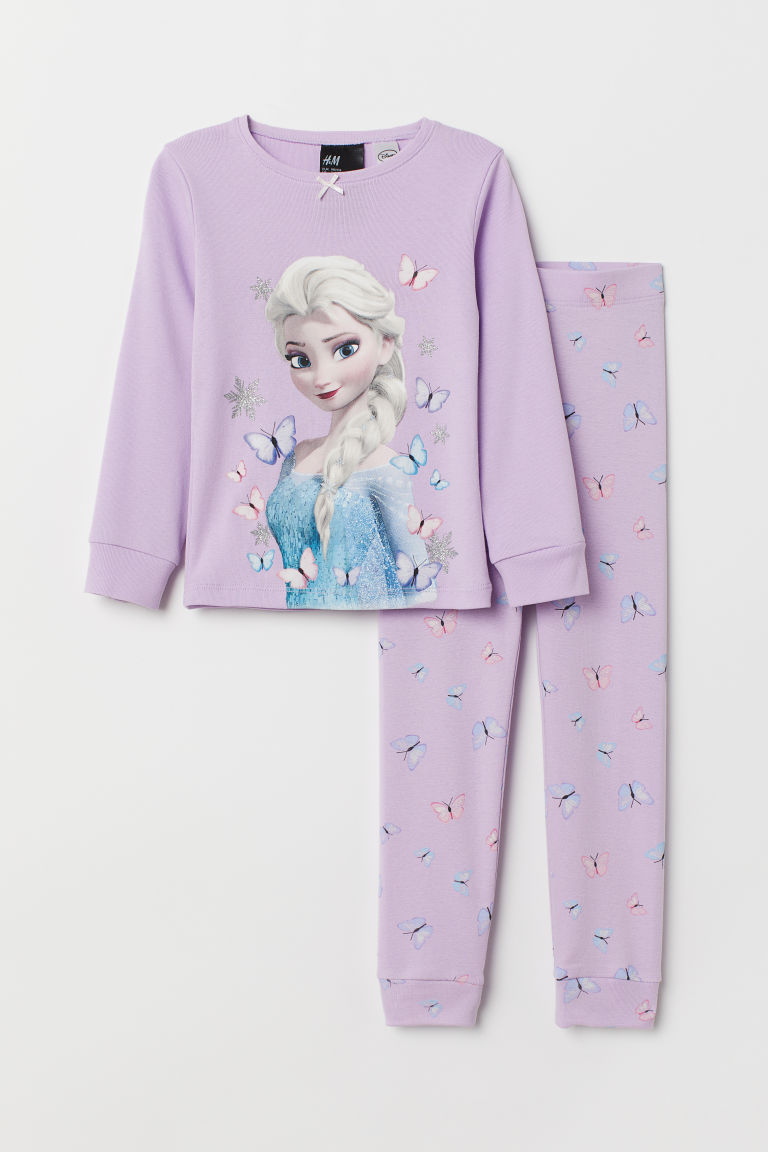 Jersey pyjamas - Light purple/Frozen - Kids | H&M CN