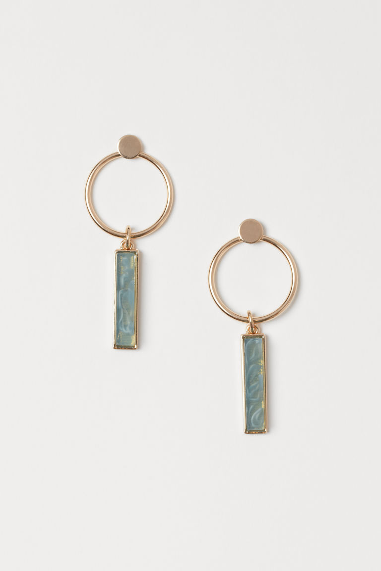 Earrings - Gold-colored/light blue - Ladies | H&M US