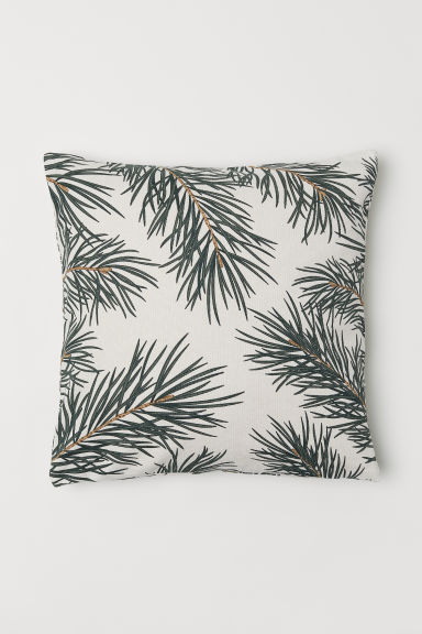 Christmas-print cushion cover - Natural white/Pine needles -  | H&M CN