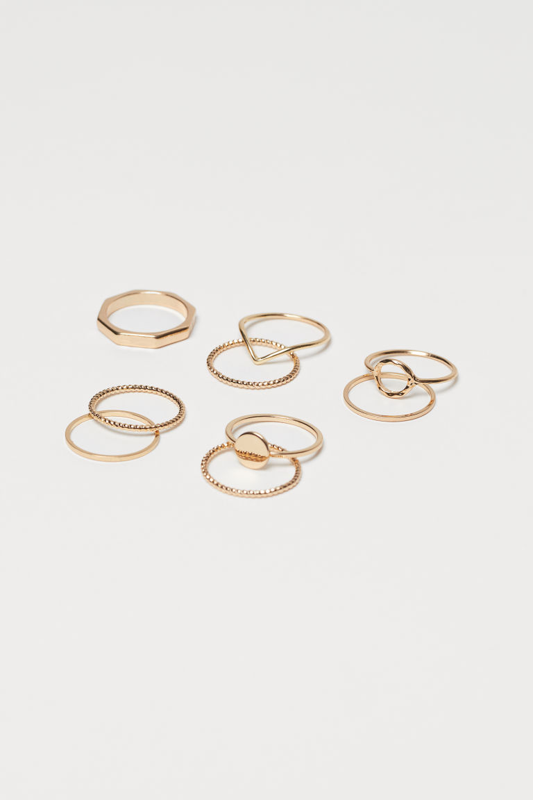 9-pack Rings - Gold-colored - Ladies | H&M CA