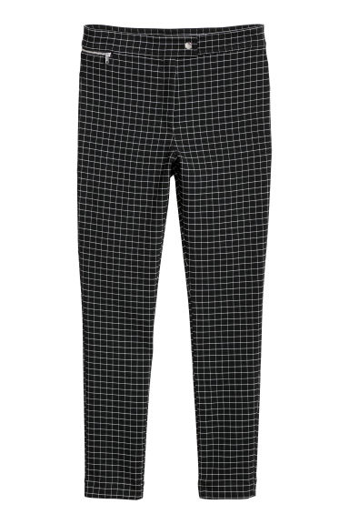 Checked trousers - Black/Checked -  | H&M