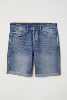 Straight Fit Jeansshorts