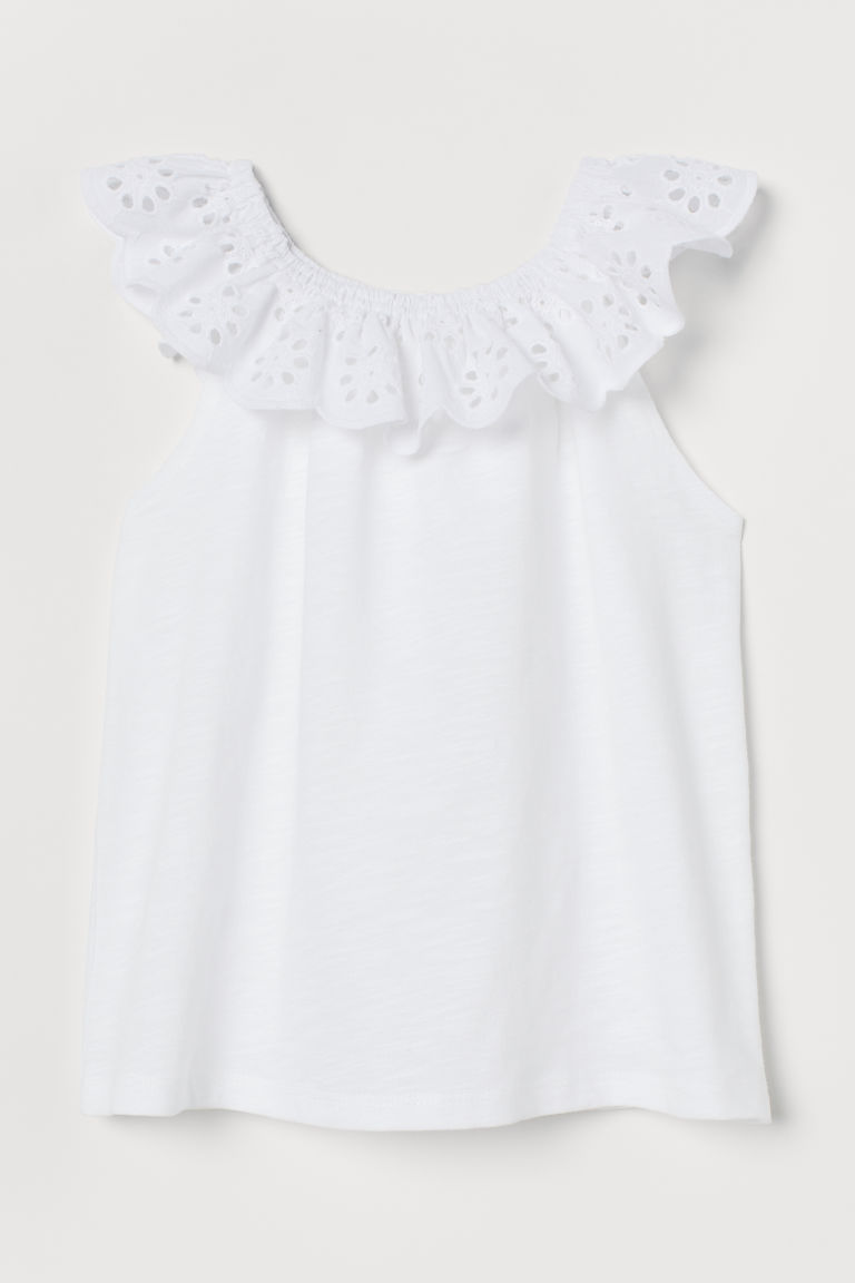 Blouse - White - Kids | H&M US
