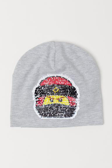 Hat with reversible sequins - Light grey/Ninjago - Kids | H&M