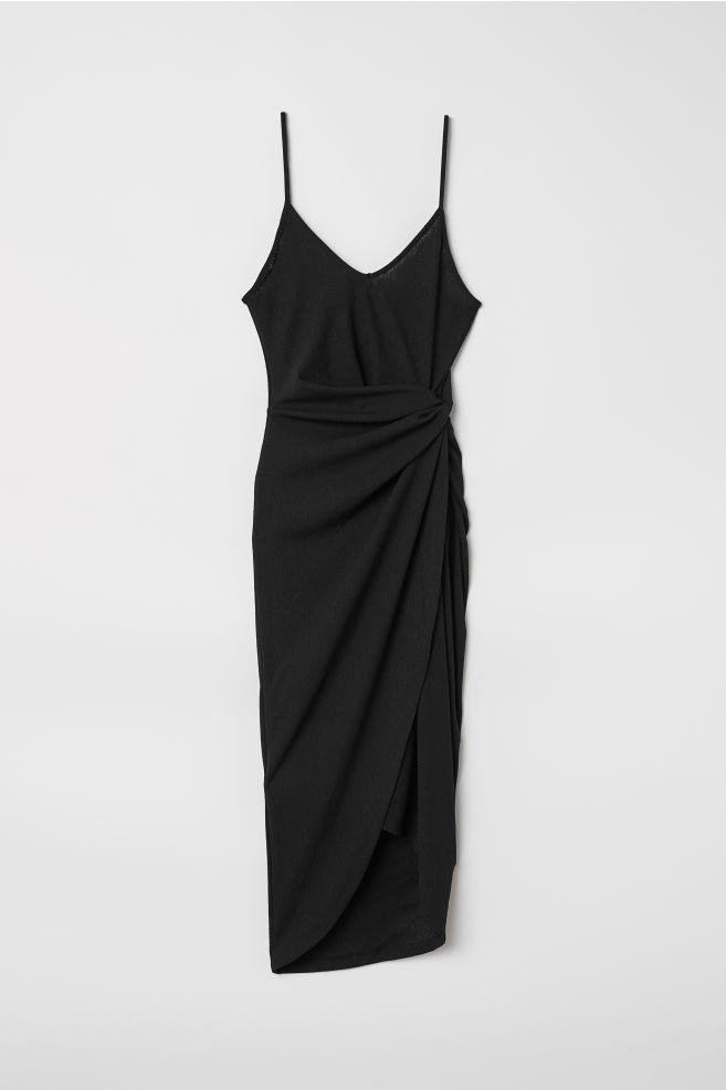 Draped wrap dress - Black - Ladies  be06a6102