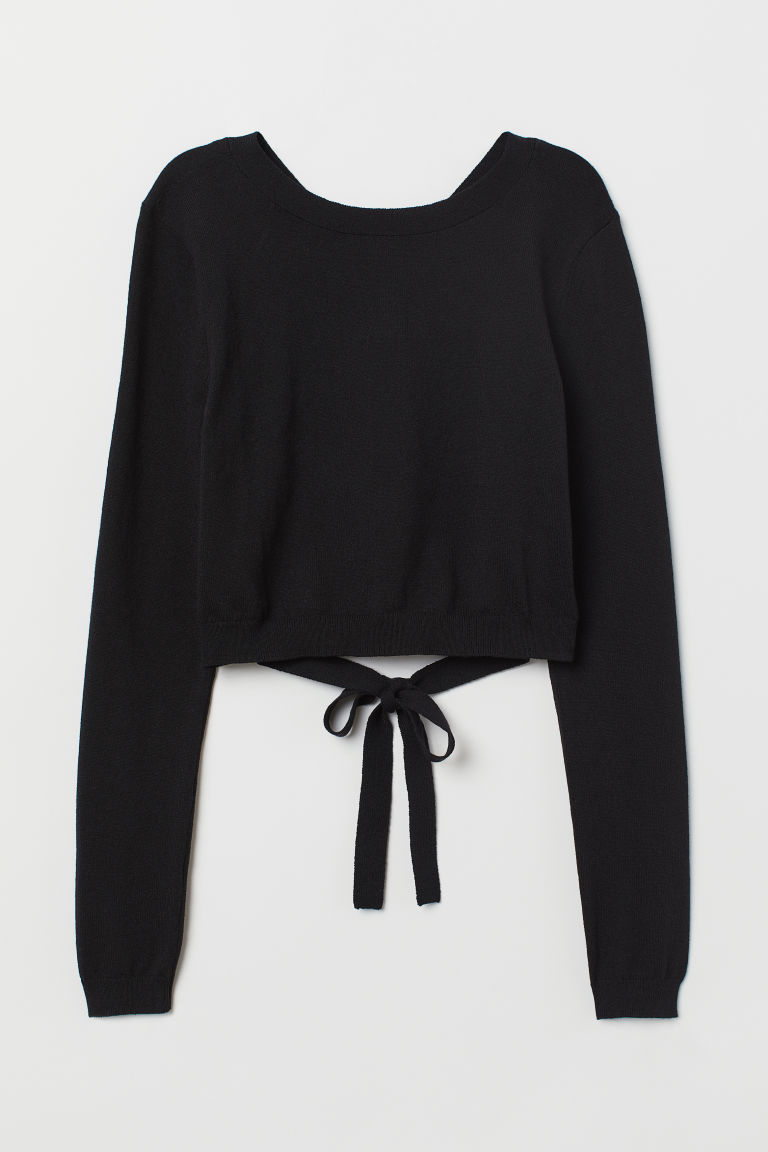 Open-backed Sweater - Black -  | H&M US
