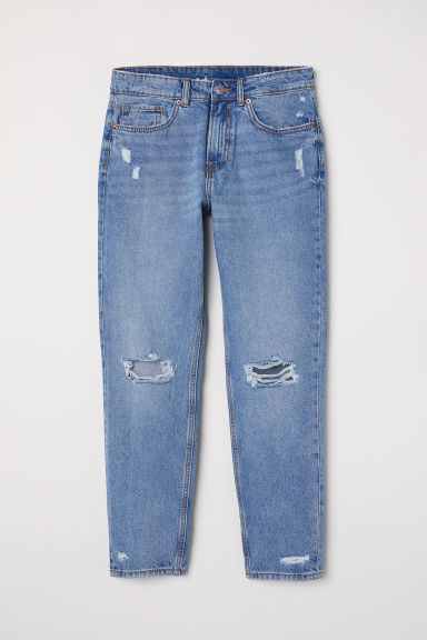 Boyfriend Low Ripped Jeans - 浅牛仔蓝 -  | H&M CN