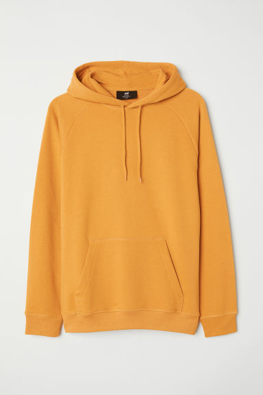 Hooded top with raglan sleeves - Mustard yellow - Men | H&M