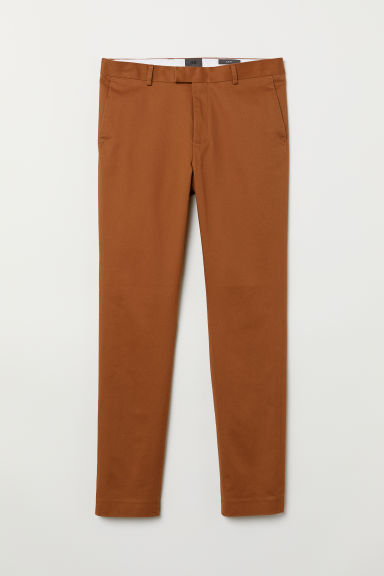 Chinos in cotone Slim fit - Marrone - UOMO | H&M IT