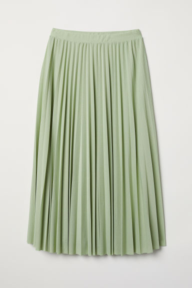 Pleated skirt - Light green - Ladies | H&M GB