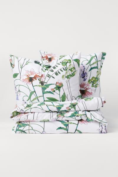 H&M - Cotton satin duvet cover set - 2