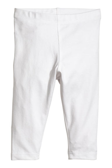 Jersey leggings - White - Kids | H&M CN