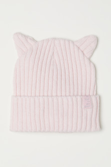 Ribbed hat with ears