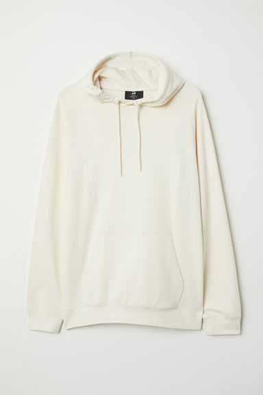 Hooded top with raglan sleeves - Cream - Men | H&M