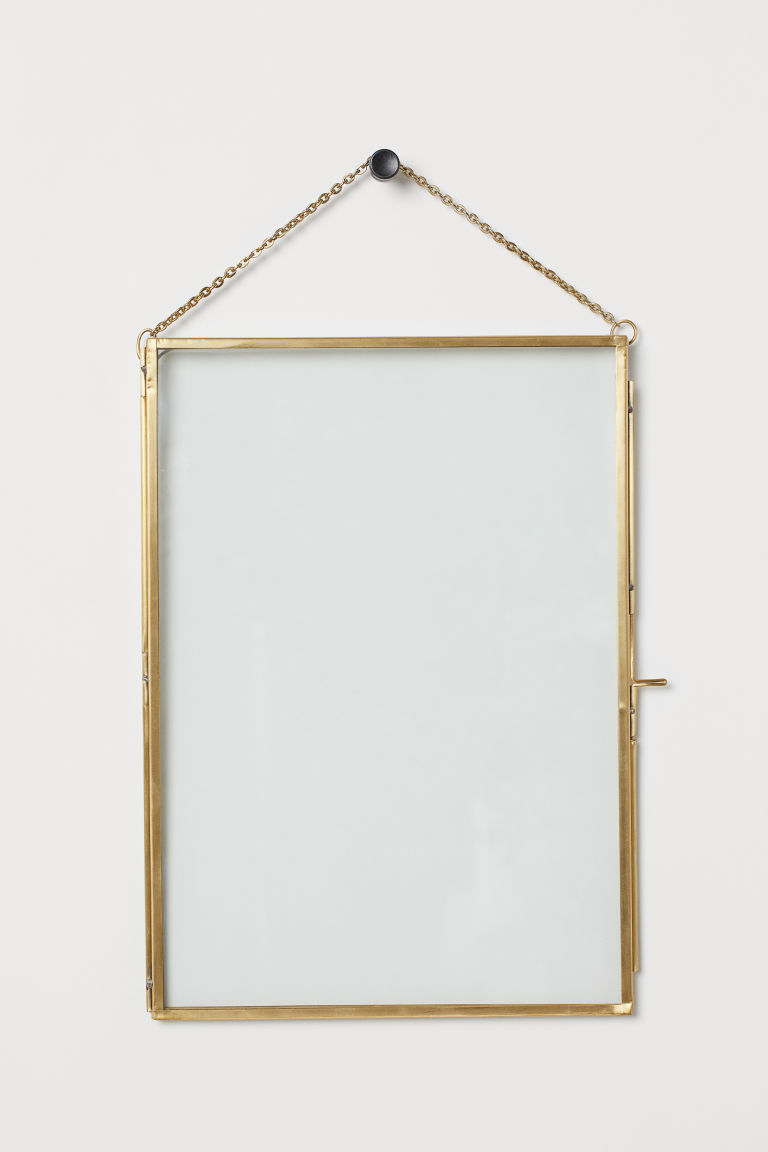 Large metal frame - Gold-coloured - Home All | H&M GB