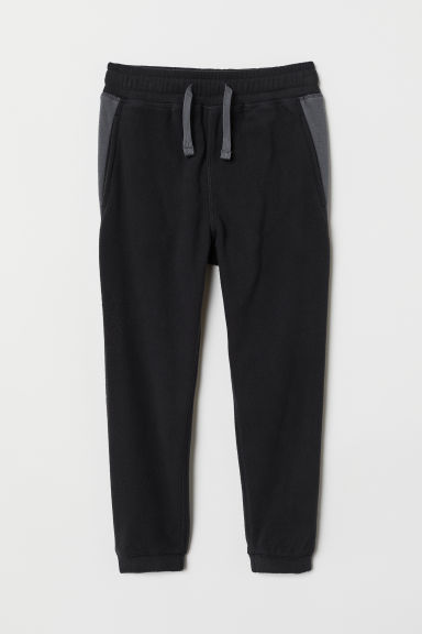 Fleece trousers - Black/Grey - Kids | H&M