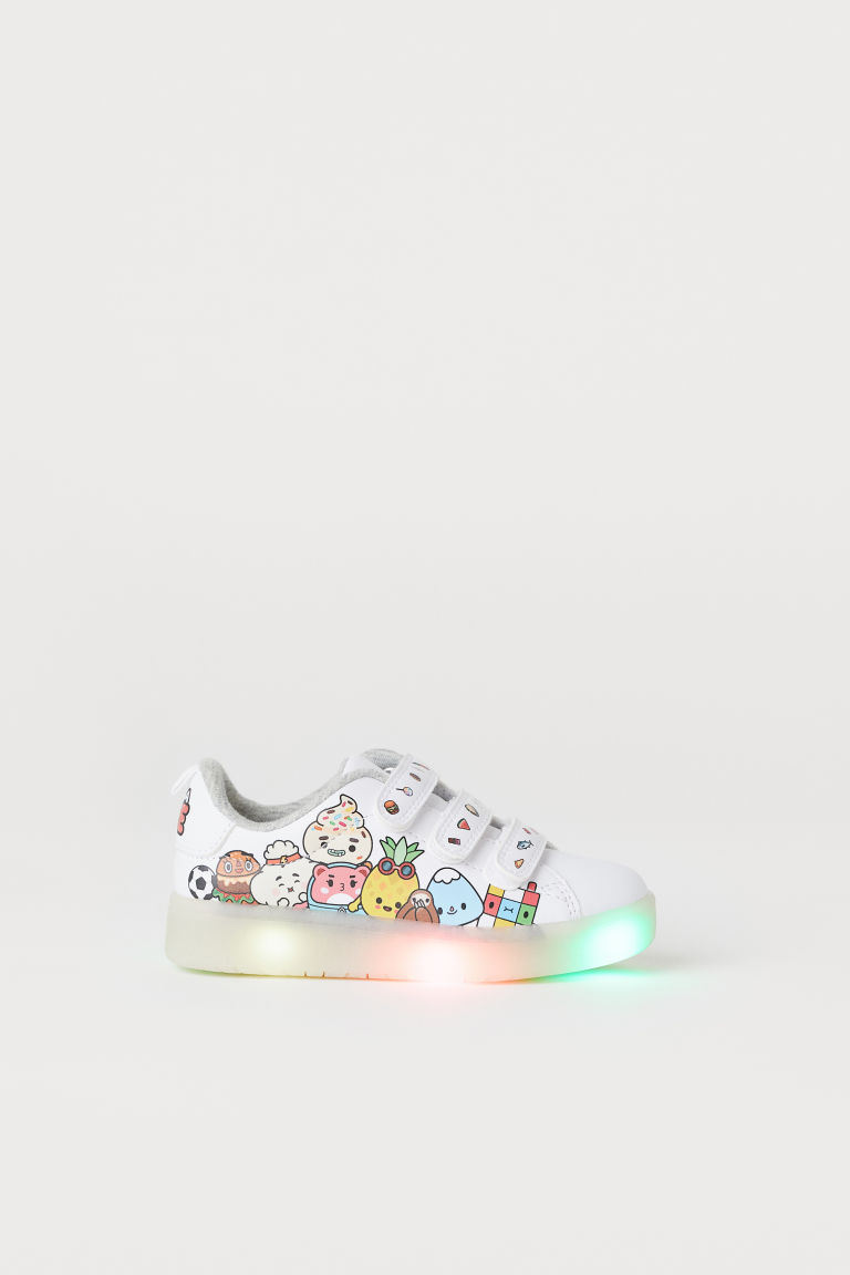 Trainers with lights - White/Toca Life - Kids | H&M GB