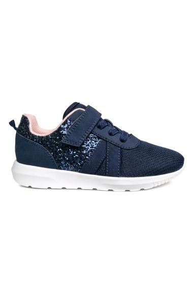 Trainers - Dark blue/Glitter - Kids | H&M