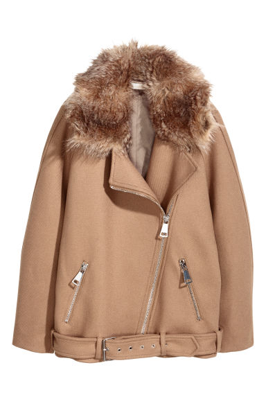 Long biker jacket - Camel - Ladies | H&M