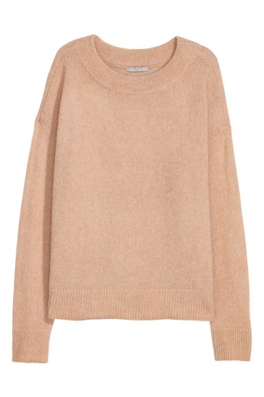 Wool-blend jumper - Light beige - Ladies | H&M CN