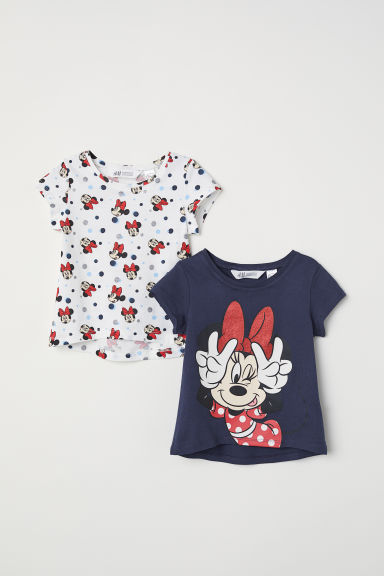 Set van 2 tops - Donkerblauw/Minnie Mouse - KINDEREN | H&M BE