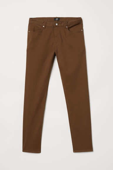 Twill trousers Slim fit - Camel - Men | H&M CN