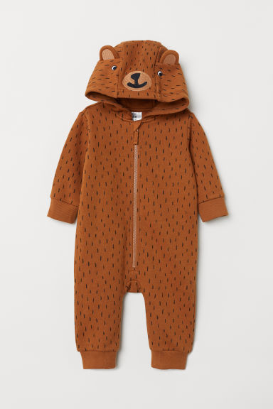 All-in-one suit with appliqués - Brown - Kids | H&M