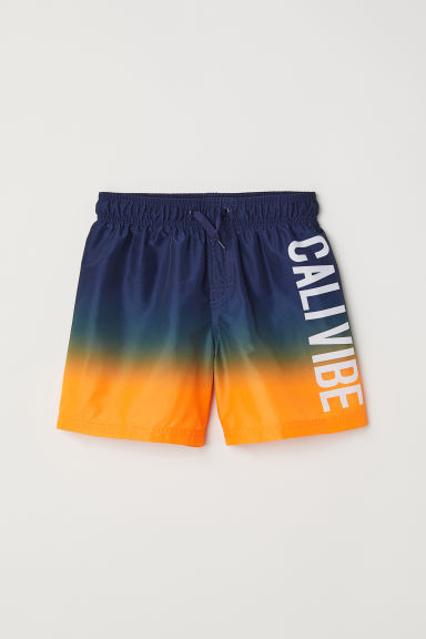 Printed swim shorts - Dark blue - Kids | H&M CN