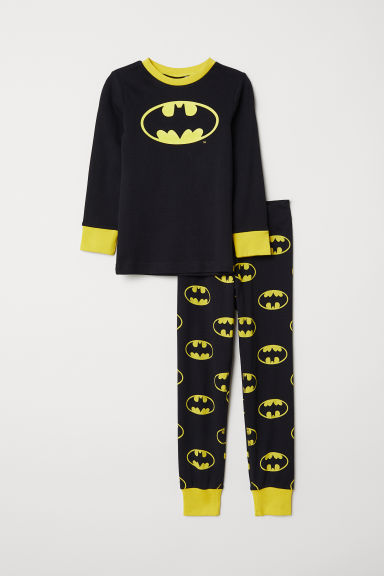 Jersey pyjamas - Black/Batman - Kids | H&M