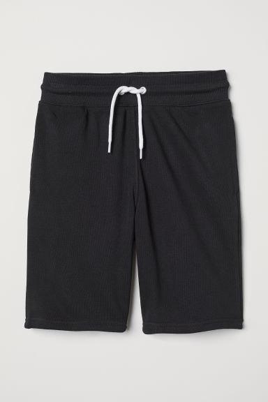 Sweatshirt shorts - Black/White - Kids | H&M CN