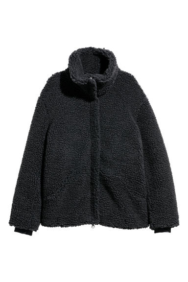 Pile jacket - Dark grey -  | H&M