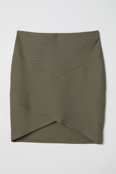 Fitted skirt - Khaki green - Ladies | H&M CN