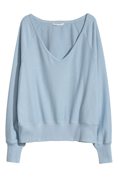 Sweater met V-hals - Lichtblauw - DAMES | H&M BE