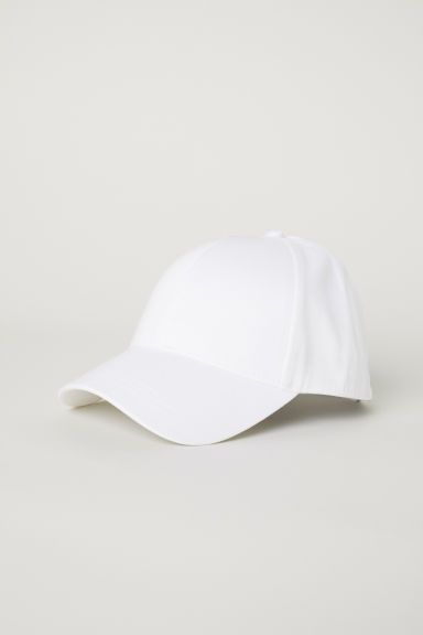 Cotton twill cap - White - Ladies | H&M