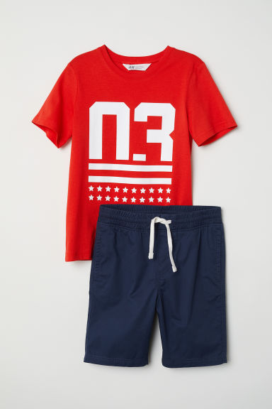 T-shirt e shorts - Red/03 -  | H&M IT