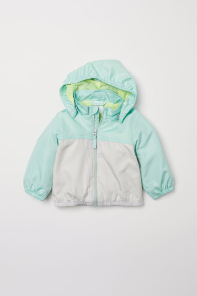 Jacket - Mint green/Block-coloured - Kids | H&M CN