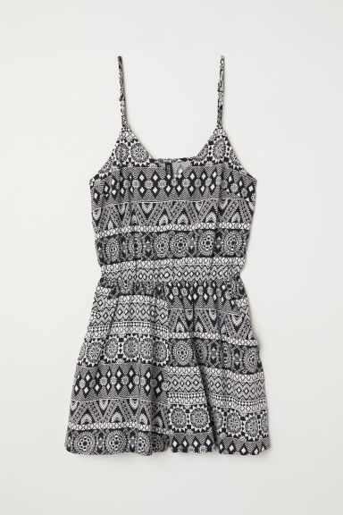 Playsuit - Black/White patterned -  | H&M CN